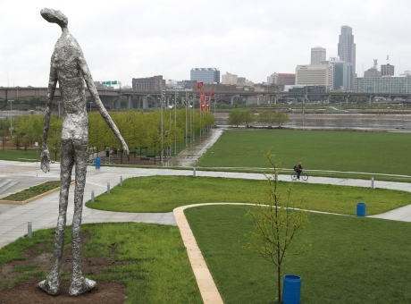 "Tom Friedman's ""Looking Up"" installed at Tom Hanafan River's Edge Park"