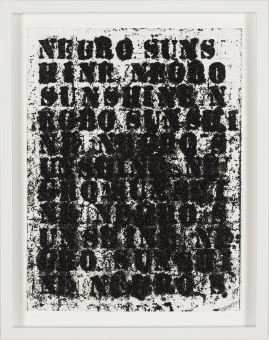 "Glenn Ligon in ""Reclamation! Pan-African Works from the Beth Rudin DeWoody Collection"""
