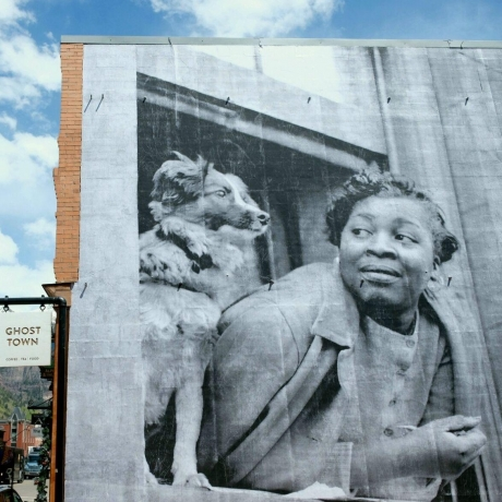 Embracing public art - New mural features work by French artist JR