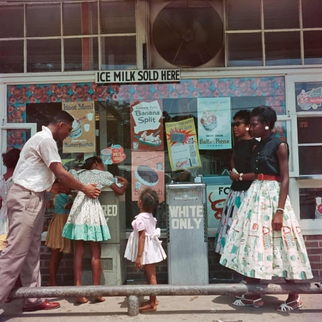Gordon Parks's At Segregated Drinking Fountain: persistent inequalities