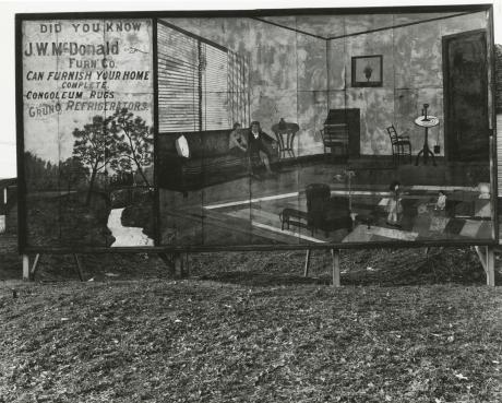 Walker Evans, Furniture store sign near birmigham, alabama, 1936, Howard greenberg gallery, 2019