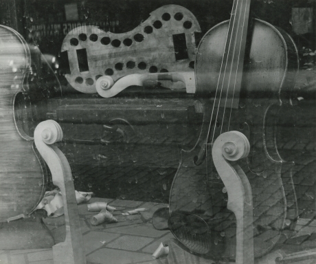 Arnold Newman, Untitled (violin double exposure), 1941, Howard Greenberg Gallery, 2019