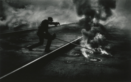 W. Eugene Smith, Dance of the Flaming Coke, from the Pittsburgh series, 1955, Howard Greenberg gallery, 2019