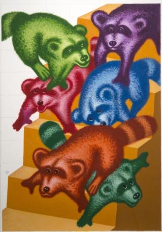 Peter Saul Raccoons