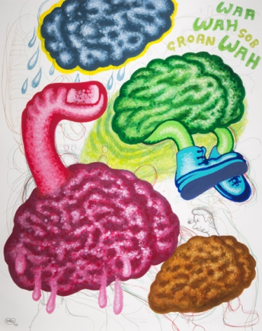 Peter Saul Brains