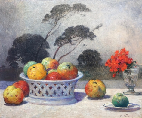 Anderson Galleries Puigaudeau, Nature Morte, oil, c 1890