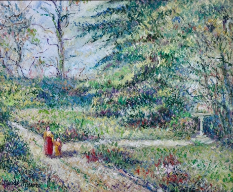 H. C. Pissarro, Le Jardin du Moulin, oil on canvas