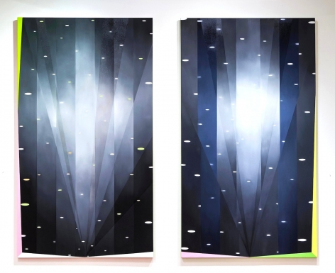 JANET JONES ​| JOYRIDE #3 & #4 | OIL AND ACRYLIC ON CANVAS | 96 X 54 INCHES EACH | 2012