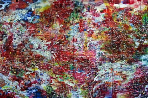 AMY SCHISSEL | RED | RGB SERIES | MULTIMEDIA ON WOOD | 108 X 86 INCHES | 2009