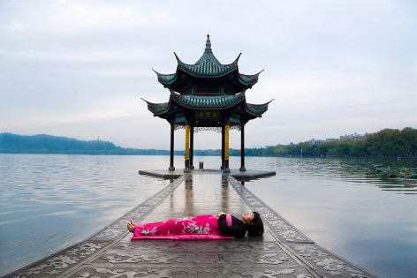CHUN HUA CATHERINE DONG | I HAVE BEEN THERE - HANGZHOU AND NANJING| PERFORMANCE AND PHOTOGRAPH| 30 X 45 INCHES |2019,
