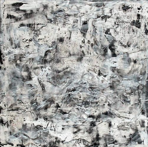AMY SCHISSEL | EARTH SYSTEMS RELEASE 2 | ACRYLIC, PLASTER, INK, GRAPHITE, PAPER ON WOOD | 60 X 60 INCHES | 2012