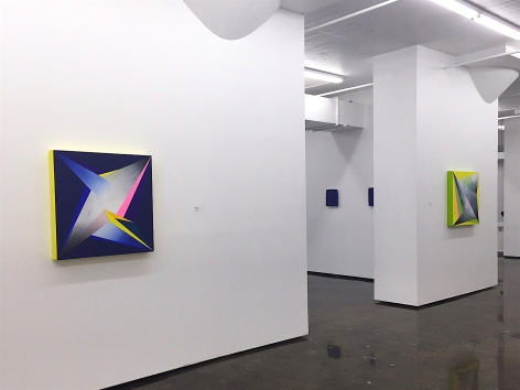 JANET JONES ​| STARRY, STARRY NITE #1 & #4 | INSTALLATION VIEW | OIL AND ACRYLIC ON CANVAS | 30 X 30 INCHES EACH | 2016