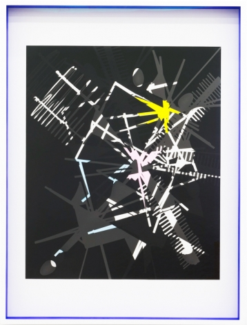 JANET JONES | SPACE JUNK #6 | PHOTOGRAM-SILVER / HAND TINTED | 32.5 X 24.5 INCHES | 2017,