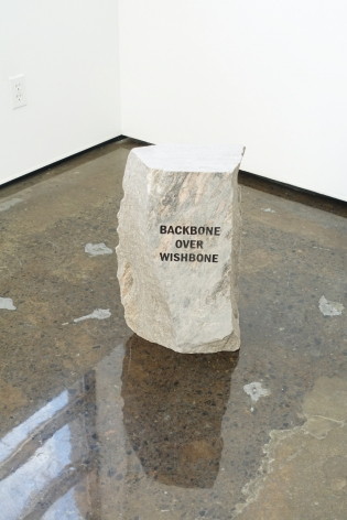MICHAEL VICKERS | MONUMENT II (BONE)| PIERRE GRAVÉE ET PEINTE | 20X 12X 6,5 POUCES| 2017