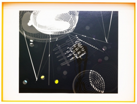 JANET JONES | SPACE JUNK #5| PHOTOGRAM-SILVER / HAND TINTED | 24.5X 32.5INCHES | 2017,