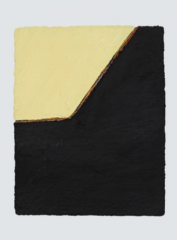 PAUL BUREAU | OUT OF SHAPE (B) | OIL PAINT AND OIL PASTEL ON CANVAS | 28 X 22 INCHES | 2015