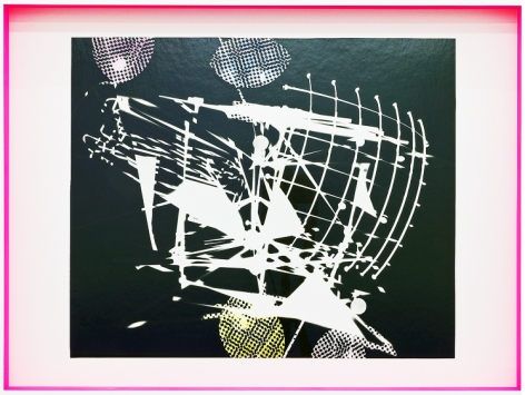 JANET JONES | SPACE JUNK #1 | PHOTOGRAM-SILVER / HAND TINTED | 24.5 X 32.5 INCHES | 2017,