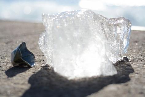 EVE K. TREMBLAY | DANSE DES GALETS - PETIT BOL BLEU ET GLACE | ARCHIVAL PIGMENT PRINT | 25X 16.5INCHES | 2019,