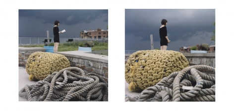 ÈVE K. TREMBLAY | MEMORISING MISHIMA (EN DEUX TEMPS) | ÉPREUVE CHROMOGÈNE | 30 X 30 POUCES | 2009