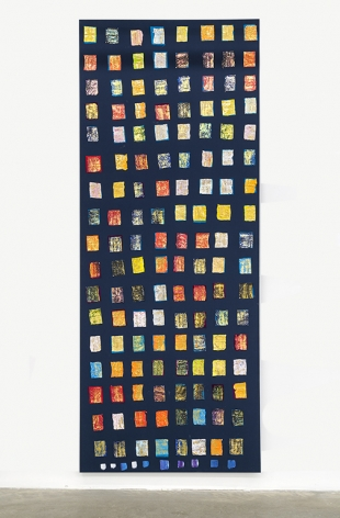 PAUL BUREAU | EPHEMERAL (PAINTING #4) | OIL PAINT TUBE ON CANVAS | 144 X 58 INCHES | 2019