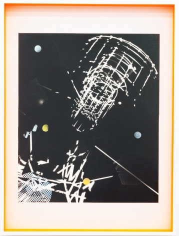 JANET JONES | SPACE JUNK #2| PHOTOGRAM-SILVER / HAND TINTED | 32.5X 24.5INCHES | 2017,