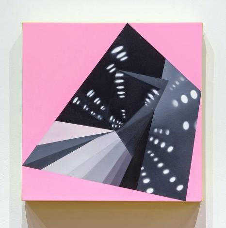 JANET JONES | HYPNO-MERGE INTO DAZZLE DAYS #5| HUILE ET ACRYLIQUE SUR TOILE| 18 X 18 POUCES | 2012