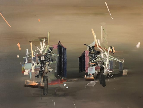 SCOTT EVERINGHAM | DELUXE VILLAS | OIL ON CANVAS | 36 X 48 INCHES | 2011