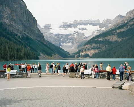 JESSICA AUER | LAKE LOUISE #1 | STUDIES ON HOW TO VIEW LANDSCAPE | C-PRINT | 40 X 50 INCHES | 2012