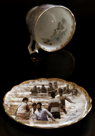 CHERYL PAGUREK | GILDED TEA CUP AND SAUCER / SRINAGAR | DIGITAL PRINT ON PHOTO PAPER | 34 X 24INCHES | 2018