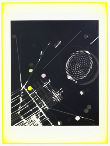 JANET JONES | SPACE JUNK #4 | PHOTOGRAM-SILVER / HAND TINTED | 32.5 X 24.5 INCHES | 2017