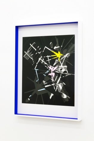 JANET JONES | SPACE JUNK #6| PHOTOGRAM-SILVER / HAND TINTED | 24.5X 32.5INCHES | 2017,