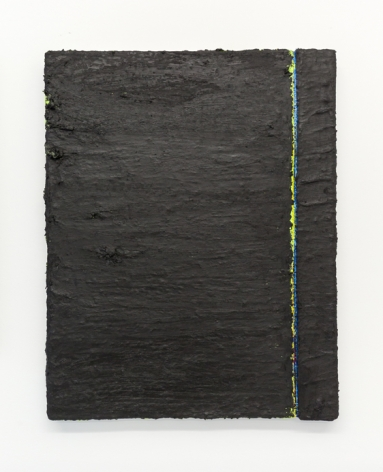PAUL BUREAU | OUT OF SHAPE (BLACK) | OIL PAINT AND OIL PASTEL ON CANVAS | 28 X 22 INCHES | 2014