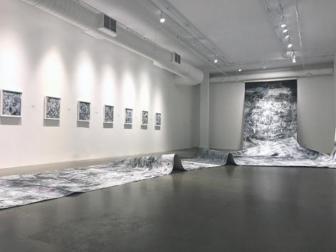 AMY SCHISSEL   HYPER-ATLAS   VUE D'EXPOSITION  GALERIE PATRICK MIKHAIL  MONTRÉAL   2018