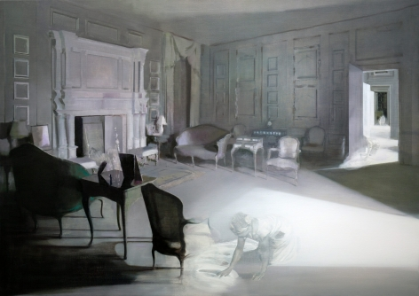 TIM KENT   AGENT   OIL ON LINEN  48X 68INCHES   2020