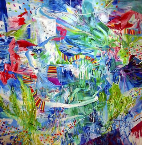 AMY SCHISSEL | CENTRAL PARK | ACRYLIC ON CANVAS | 72 X 72 INCHES | 2013