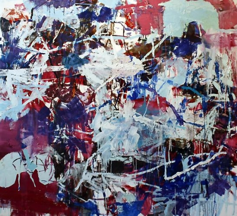 ANDREW SMITH   HOLDING PATTERN   OIL AND ACRYLIC ON CANVAS   66 X 72 INCHES   2012