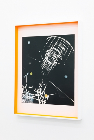 JANET JONES | SPACE JUNK #2| PHOTOGRAM-SILVER / HAND TINTED | 24.5X 32.5INCHES | 2017,