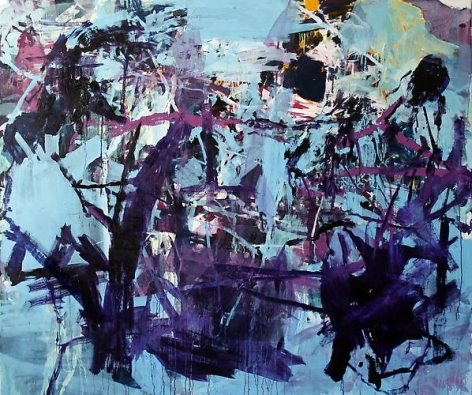 ANDREW SMITH   FEEDING   OIL AND ACRYLIC ON CANVAS   60 X 78 INCHES  2012