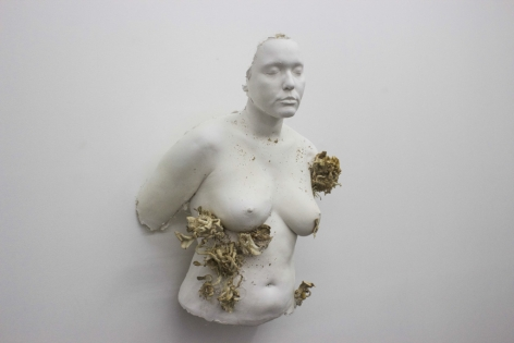 MICHAËLLE SERGILE | PUTRÉFACTION | PLASTER AND FUNGUS | 20 X 15 X 30 INCHES | 2017