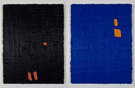 PAUL BUREAU | ONE ON ONE (B AND B) | HUILE SUR TOILE | 44,5X 34 POUCES | 2011