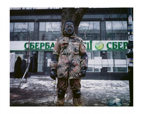 Maydan Protestor, Kiev 2014, 25 3/16 x 31 ½  inches