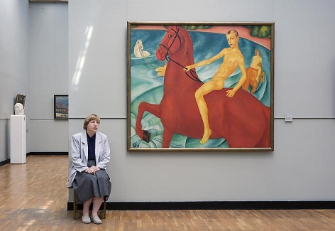 Andy Freeberg, Kuzma Petrov-Vodkin's Bathing of a Red Horse, State Tretyakov Gallery, 2008