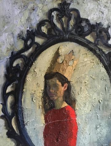 Avital Burg, Self Portrait in Ikea Looking Glass,2016