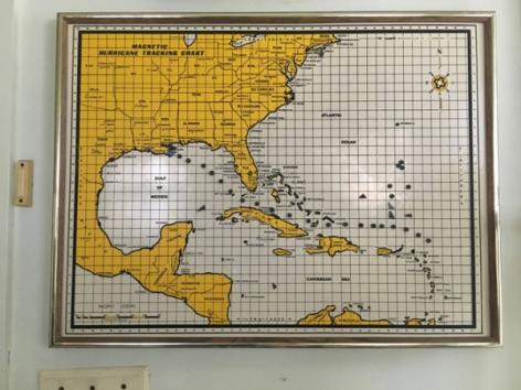 Zoe Strauss,Hurricane Tracking Chart, Annette Bowman's Home. Berwick, LA. September 2017, Archival Inkjet Print