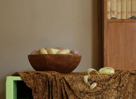 Einat Arif Galanti, Still Life with Potatoes and Dictionary, 2007