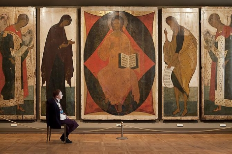 Andy Freeberg, Andrei Rublev and Daniil's The Deesis Tier, State Tretyakov Gallery, 2009
