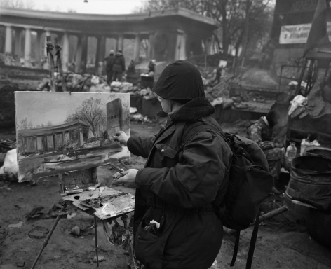 PAVEL WOLBERG, Untitled, Painter (Kiev, 11 February 2014), 2014