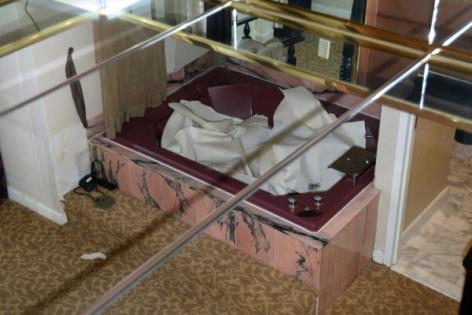 Zoe Strauss,Mirrored Bathroom, Guest Room at Trump Taj Mahal During Liquidation Sale. Atlantic City, NJ. July 2017, Archival Inkjet Print