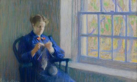 Gertrude Magie, Woman Knitting