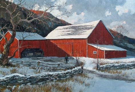 Eric Sloane, Barn in Winter